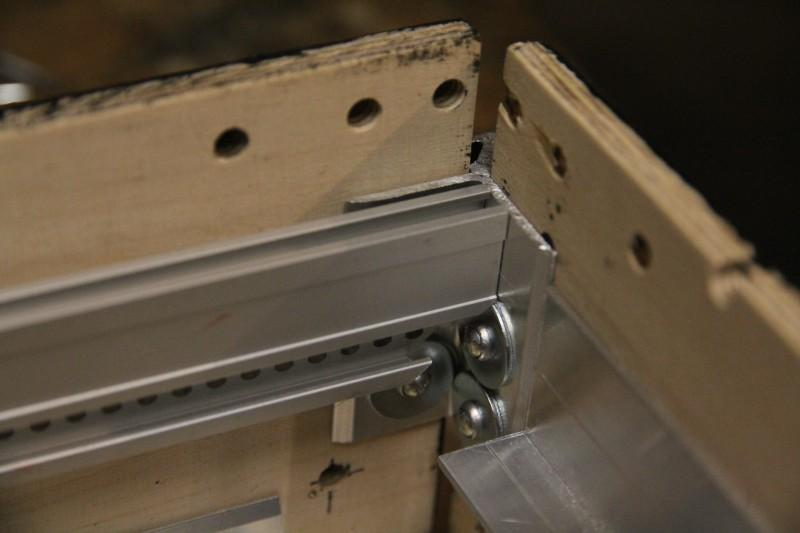 Blind rivets through a corner casemaker with additional washers
