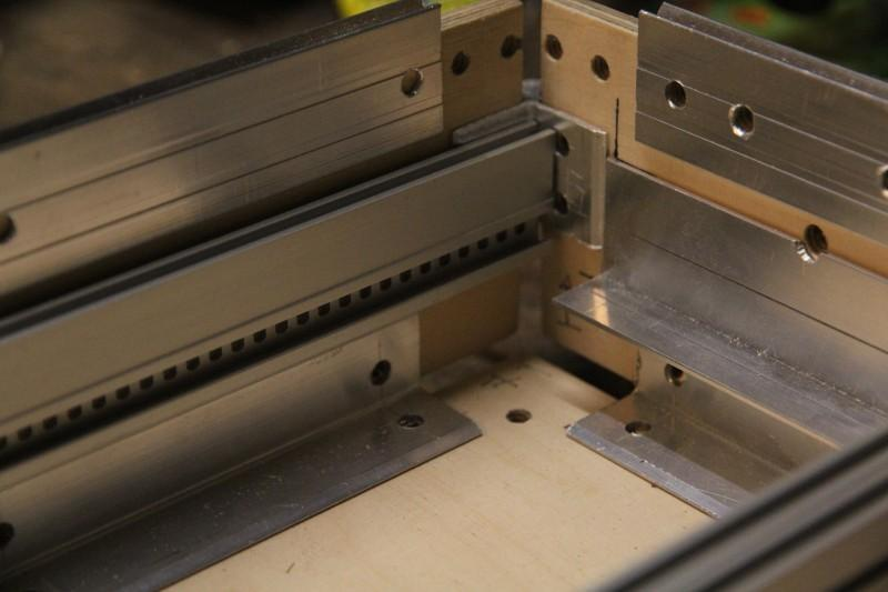 Rails, rails washers, casemakers and closing profiles after drilling